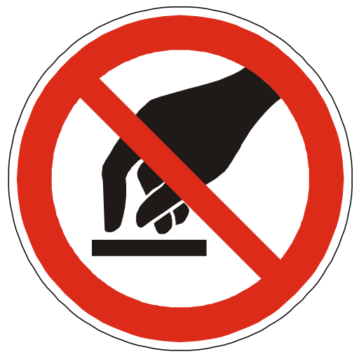Free Icons Do Not Touch Warning Sign