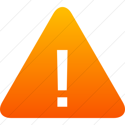 Simple Orange Gradient Raphael Warning Sign Icon