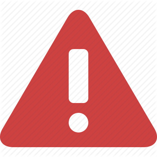 Red Warning Sign Transparent Png Clipart Free Download