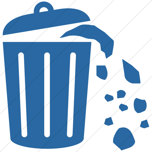 Simple Blue Ocha Humanitarians Wash Solid Waste Icon