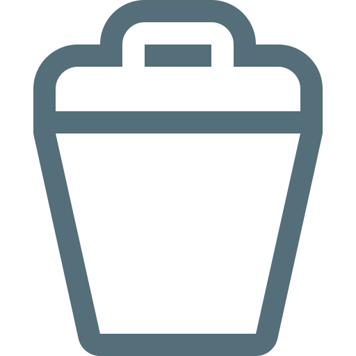 Trash, Waste, Dustbin, Trashcan, Rubbish, Bin, Garbage Icon