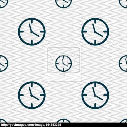 Clock Time Sign Icon Mechanical Watch Symbol Seamless Abstract