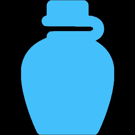 Caribbean Blue Water Bottle Icon