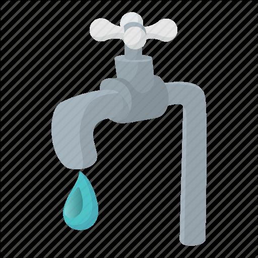 Cartoon, Drip, Drop, Faucet, Metal, Tap, Water Icon