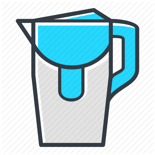 Filter, Fluid, Half, Water, Water Filter Icon