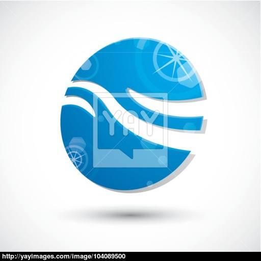 Wave Water Icon Abstract Icon, Vector Symbol Vector
