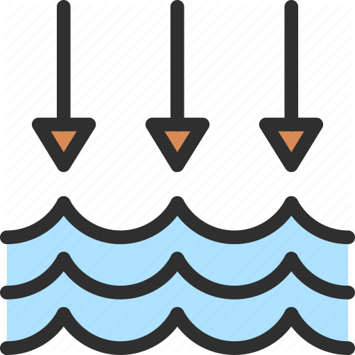 Arrow, Level, Low, Water Icon