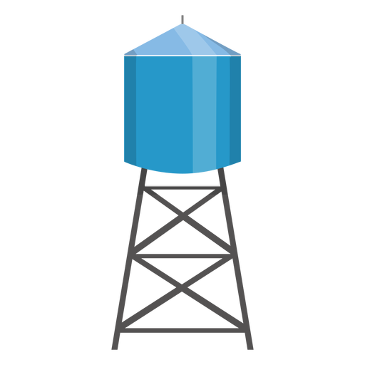 Water Tower Container Illustration