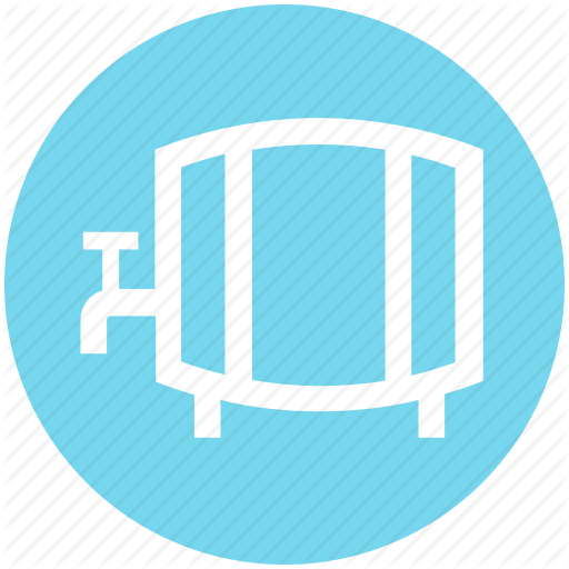 Barrel, Container, Drum, Keg, Water Cask, Water Tank Icon
