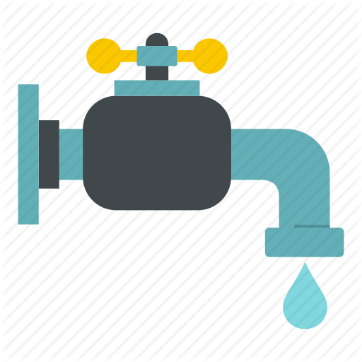 Blue, Drain, Drinking, Drip, Drop, Water, Water Tap Icon