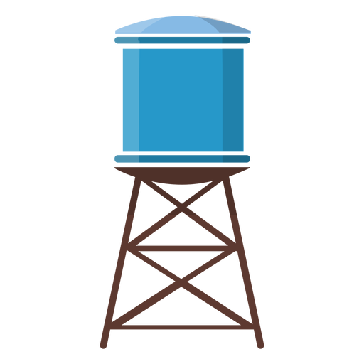 Water Tower Illustration