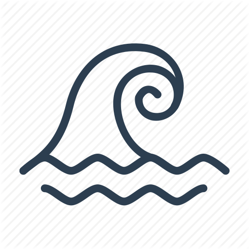 Big Wave, Catastrophe, Disaster, Ocaan, Tsunami, Water, Wave Icon