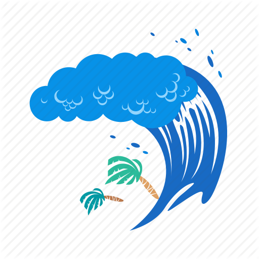 Big Wave, Disaster, Environment, Tsunami, Warning, Water, Wave Icon