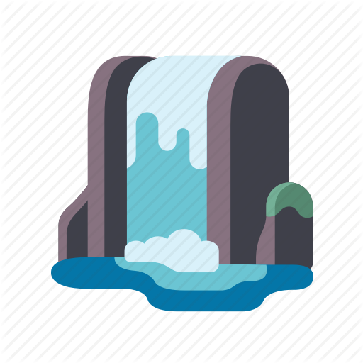 Cascade, Landscape, Nature, Scenery, Waterfall Icon