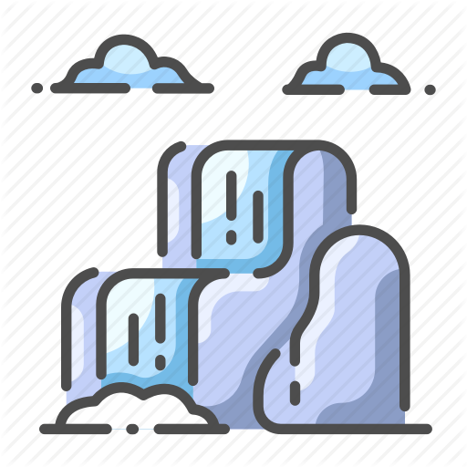 Cloud, Fall, Landscape, Natural, Scenic, Water, Waterfall Icon