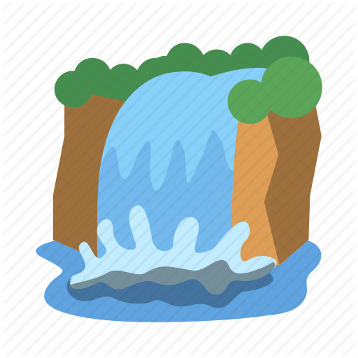 Landscape, Natural, Nature, Outdoors, River, Water, Waterfall Icon