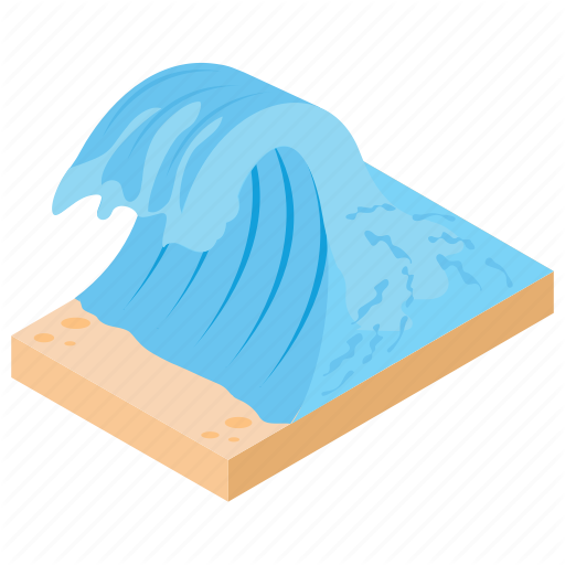 Ocean, River, Sea, Water, Waterfall Icon
