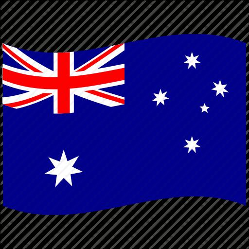 Au, Australia, Australian, Australian Flag, Flag, Waving Flag Icon
