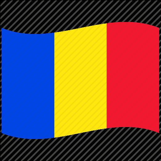 Red, Republic, Ro, Romania, Romanian Flag, Waving Flag Icon