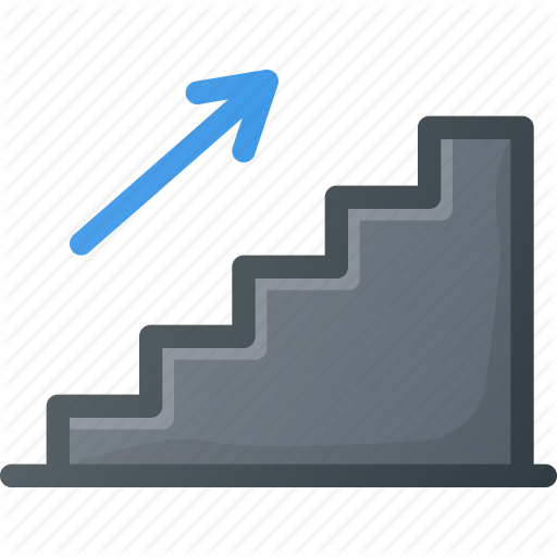 Find, Sign, Stairs, Up, Wayfinding Icon