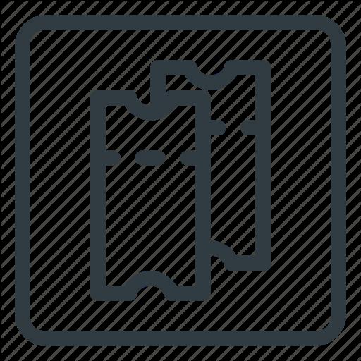 Find, Sign, Tickets, Wayfinding Icon