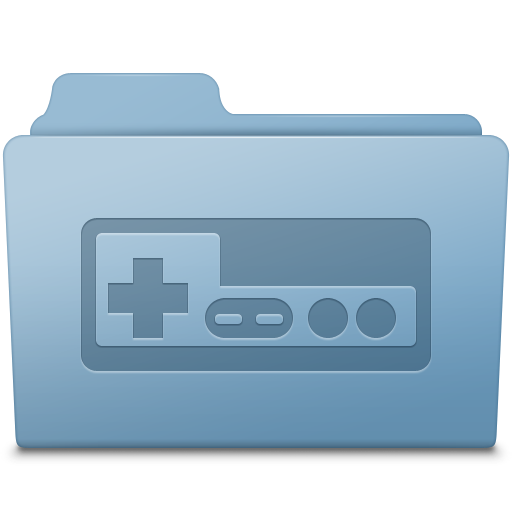 Game Folder Blue Icon Smooth Leopard Iconset Mcdo Design
