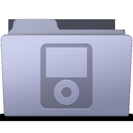 Ipod Folder Lavender Icon Smooth Leopard Iconset Mcdo Design