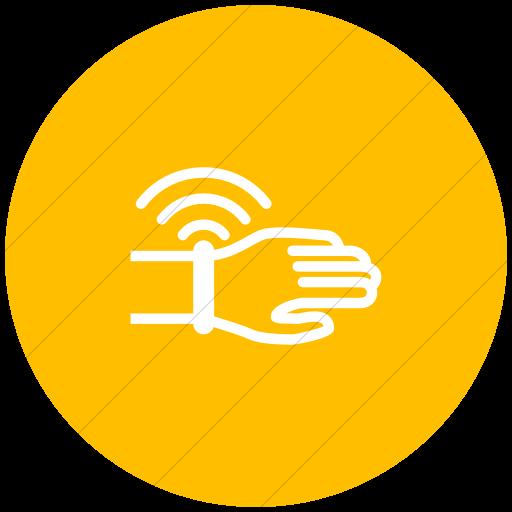 Flat Circle White On Yellow Iconathon Wearable