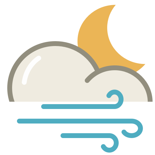 Wind, Night, Weather Icon Free Of Lovely Weather Part
