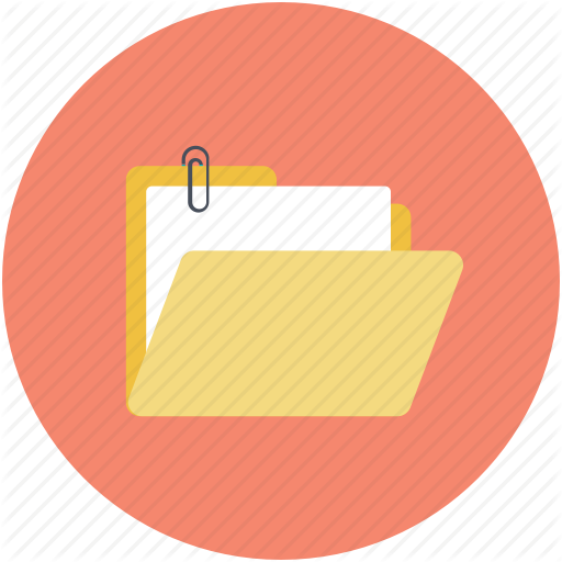 Attach File, Attachment To Folder, Computer Folder, Folder