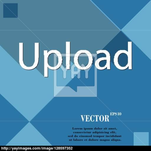 Upload Icon Symbol Flat Modern Web Design With Long Shadow