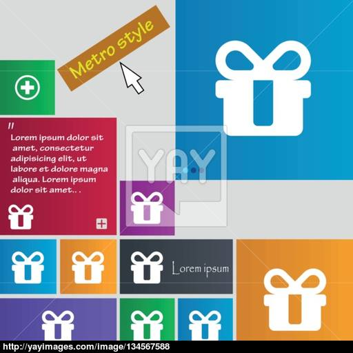 Gift Icon Sign Buttons Modern Interface Website Buttons