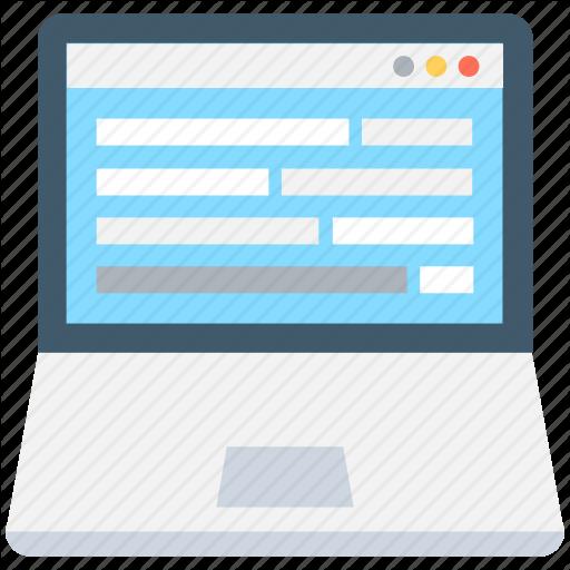 Interface, Web, Web Design, Web Form, Web Layout Icon