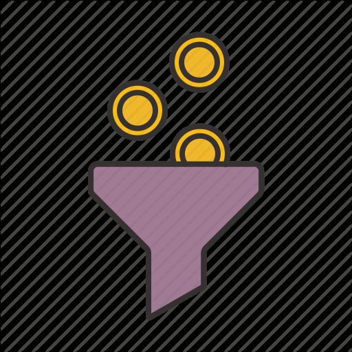 Coins, Filter, Filter Icon, Web Icon Icon