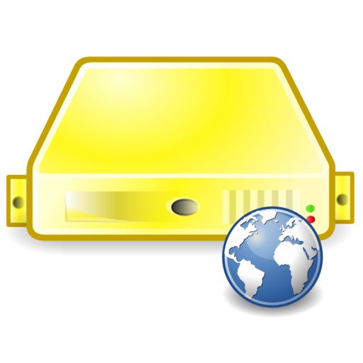 Server Web Yellow Icons, Free Server Web Yellow Icon Download