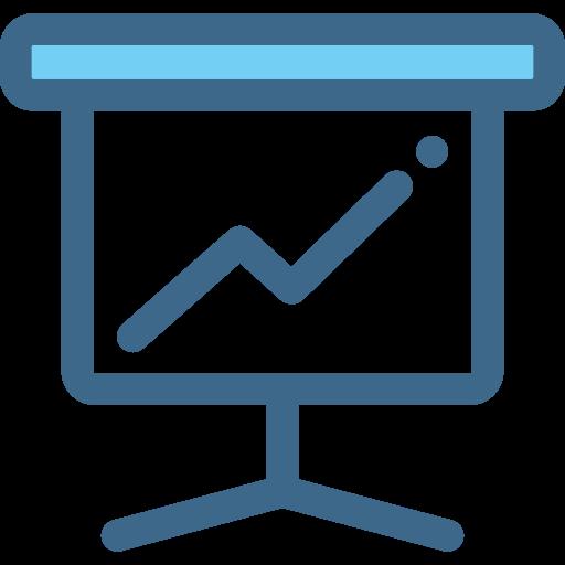 Work, Presentation, Class, Training, Statistics, Business, Stats Icon