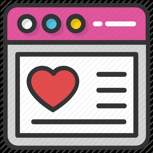 Heart Website, Website Design, Website Graphics, Website Layout