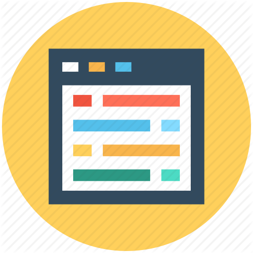 Web Layout, Web Page, Web Template, Website Design Template Icon
