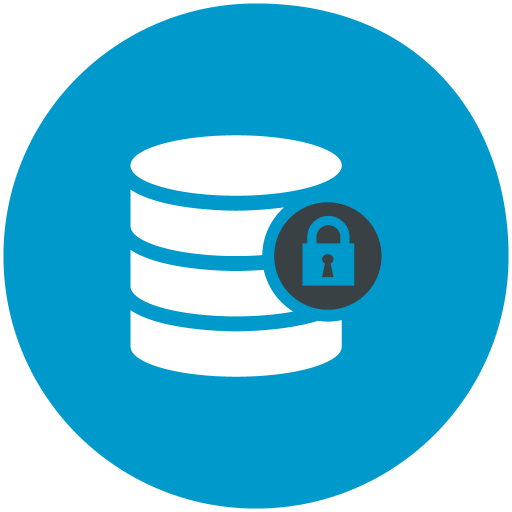 Data, Lock, Database Icon Free Of Web Hosting Technical Support