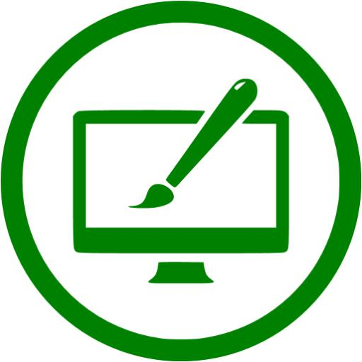 Green Website Design Icon