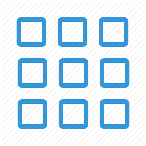 Application, Blocks, Categories, Grid, List, Main, Menu, Squares