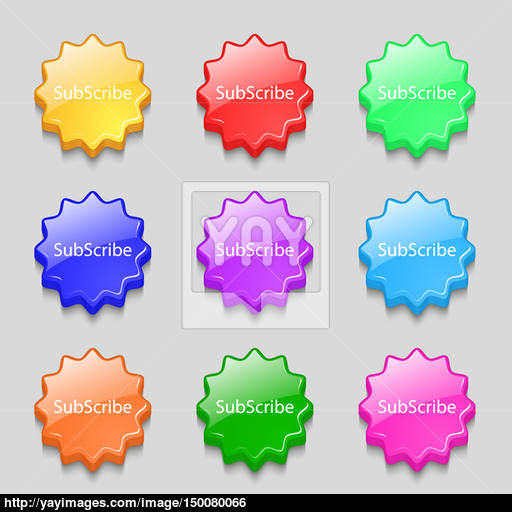 Subscribe Sign Icon Membership Symbol Website Navigation