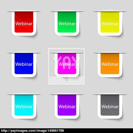 Webinar Web Camera Sign Icon Online Web Study Symbol Website E