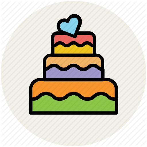 Anniversary Cake, Cake, Dessert, Party Cake, Wedding Cake Icon