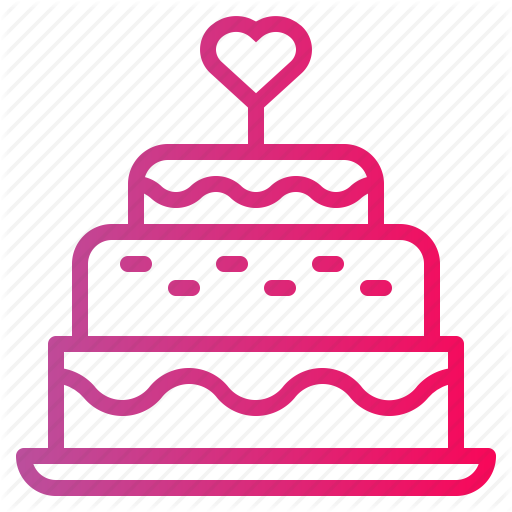 Bakery, Birthday, Cake, Candles, Wedding Cake Icon