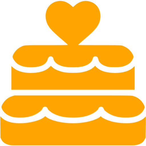 Orange Wedding Cake Icon