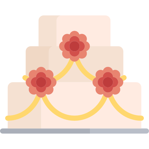 Wedding Cake, Sweet, Bakery, Dessert, Birthday, Food Icon