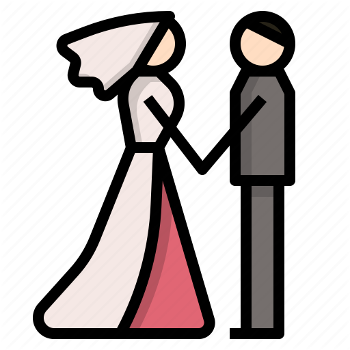 Bride, Couple, Groom, Love, Married, Wedding Icon