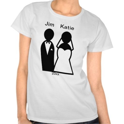 Person Icon Wedding Couple Silhouette T Shirt Wedding T Shirts