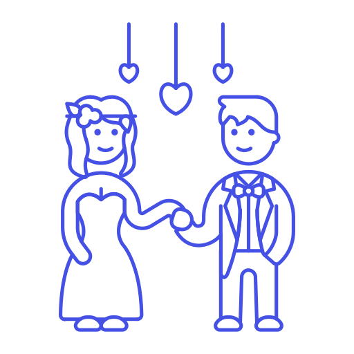 Wedding, Couple Icon Free Of Stream Line Ux Free Pack Duetone Line